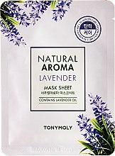Düfte, Parfümerie und Kosmetik Pflegende Tuchmaske für das Gesicht mit Lavendel - Tony Moly Natural Aroma Lavender Mask Sheet