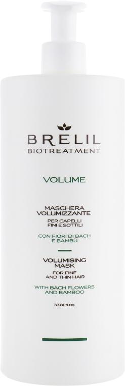 Haarmaske für mehr Volumen mit Bach-Blüten und Bambus - Brelil Bio Treatment Volume Hair Mask — Bild N3