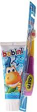 Düfte, Parfümerie und Kosmetik Mundpflegeset für Kinder - Bobini 2-7 Zahnbürste + Zahnpasta 75ml)