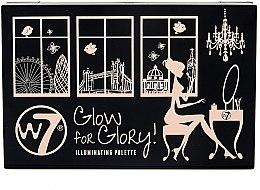 Düfte, Parfümerie und Kosmetik Highlighter Palette - W7 Glow For Glory Illuminating Palette