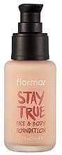 Düfte, Parfümerie und Kosmetik Foundation - Flormar Stay True Face & Body Foundation