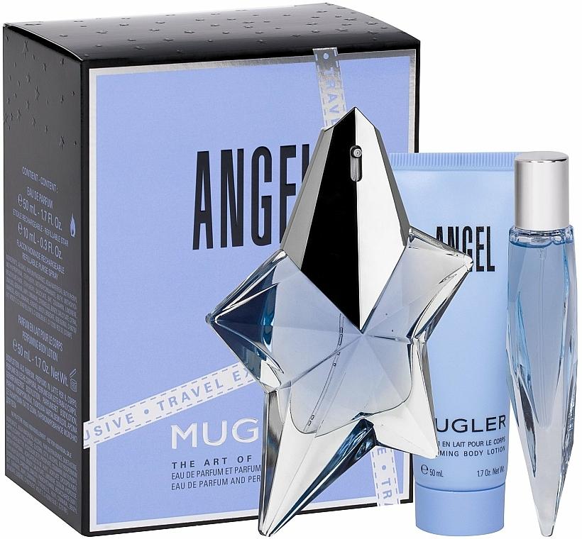 Mugler Angel - Duftset (Eau de Parfum 50ml + Körperlotion 50ml + Eau de Parfum (mini) 10ml)