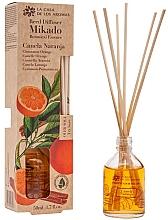 Düfte, Parfümerie und Kosmetik Aroma-Diffusor mit Duftholzstäbchen Zimt und Orange - La Casa de los Aromas Mikado Botanical Reed Diffuser Cinnamon Orange