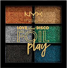 Düfte, Parfümerie und Kosmetik Pigment-Lidschattenpalette - NYX Professional Makeup Love Lust Disco Foil Play Pigment Palette