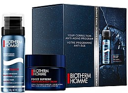 Düfte, Parfümerie und Kosmetik Set - Biotherm Homme Force Supreme (cr/50ml + shaving/foam/50ml)