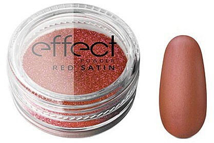 Nagelpuder - Silcare Red Satine Effect Powder — Bild N1