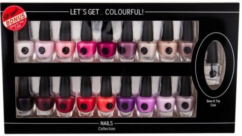 Nagelack-Set - Cosmetic 2K Let'S Get Colourful! (Nagellack 19x3,5ml) — Bild N1