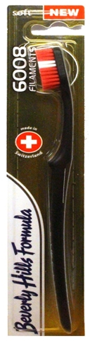 Zahnbürste weich 6008 Filaments schwarz-rot - Beverly Hills Formula 6008 Filament Multi-Colour Toothbrush — Bild N1