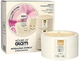 Düfte, Parfümerie und Kosmetik Soja-Duftkerze Sweet Nothings - House of Glam Raw White Collection Sweet Nothings Candle