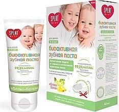 Düfte, Parfümerie und Kosmetik Natürliche Kinderzahnpasta 0-3 Jahre mit Massagebürste und Apfel- und Bananengeschmack - SPLAT Kids