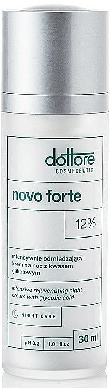 Intensiv verjüngende Nachtcreme für das Gesicht mit 12% Glykolsäure - Dottore Novo Forte — Bild N1