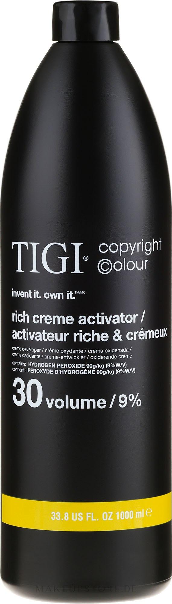 Entwicklerlotion 9% - TIGI Colour Activator 30 vol / 9% — Bild 1000 ml