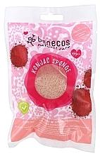 Düfte, Parfümerie und Kosmetik Konjac-Schwamm für das Gesicht mit roter Tonerde - Benecos Natural Konjac Sponge Red Clay