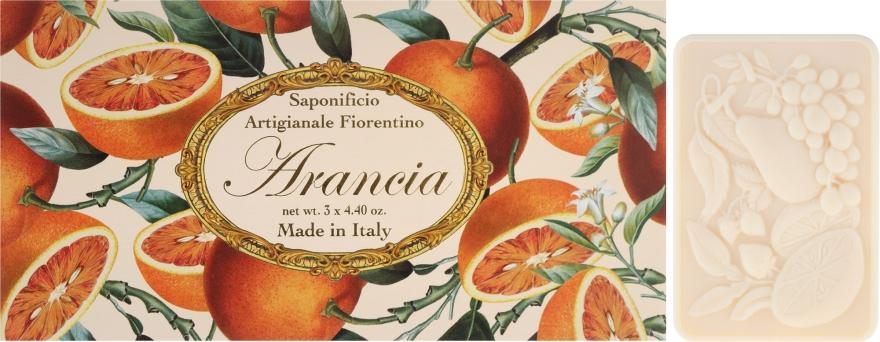 Naturseifen Geschenkset 3 St. - Saponificio Artigianale Fiorentino Orange (3x125g) — Bild N1