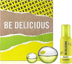 Düfte, Parfümerie und Kosmetik Donna Karan DKNY Be Delicious - Duftset (Eau de Parfum 50ml + Duschmousse 100ml + Eau de Parfum Mini 7ml)