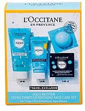 Düfte, Parfümerie und Kosmetik Gesichtspflegeset - L'Occitane Aqua Reotier (Gesichtscreme 20ml + Reinigungsgel 40ml + Gesichtsmaske 2x6ml)