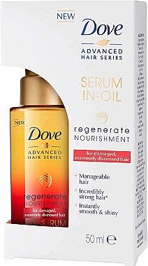 Regenerierendes und pflegendes Haarserum in Öl für sehr stapaziertes Haar - Dove Advanced Hair Series Serum In-Oil Regenerate Nourishment — Bild N1
