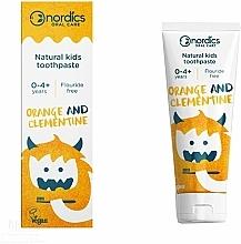 Düfte, Parfümerie und Kosmetik Kinderzahnpasta Orange und Clementine - Nordics Kids Orange Clementine Toothpaste