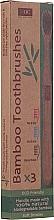 Düfte, Parfümerie und Kosmetik Zahnbürsten aus Bambus 3 St. - Xoc Eco Friendly Soft Bristle Toothbrush