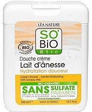 Düfte, Parfümerie und Kosmetik Feuchtigkeitsspendende Duschcreme mit Eselsmilch - So'Bio Etic Cream Shower