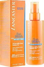 Düfte, Parfümerie und Kosmetik Ölfreies Körpersonnenspray SPF 15 - Lancaster Sun Beauty Oil-Free Milky Spray SPF 15