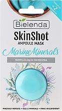 Düfte, Parfümerie und Kosmetik Feuchtigkeitsspendende Gesichtsmaske mit Meeresmineralien, Mikroalgenöl und Hyaluronsäure - Bielenda Skin Shot Marine Minerals