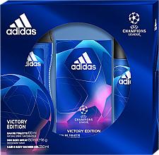 Düfte, Parfümerie und Kosmetik Adidas UEFA Champions League Victory Edition - Duftset (Eau de Toilette 100ml + Duschgel 250ml + Deospray 150ml)