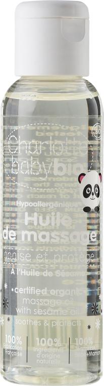Hypoallergenes Massageöl mit Sesamöl für empfindliche Babyhaut - Charlotte Baby Bio — Bild N1