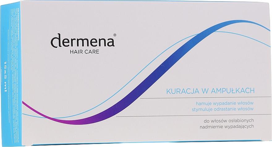 Ampullen gegen Haarausfall für Frauen - Dermena Hair Care Ampoules Against Hair Loss — Bild N1
