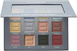 Düfte, Parfümerie und Kosmetik Lidschatten-Palette mit 12 Farben - Bellapierre 12 Color Pro Jewel Eye Palette