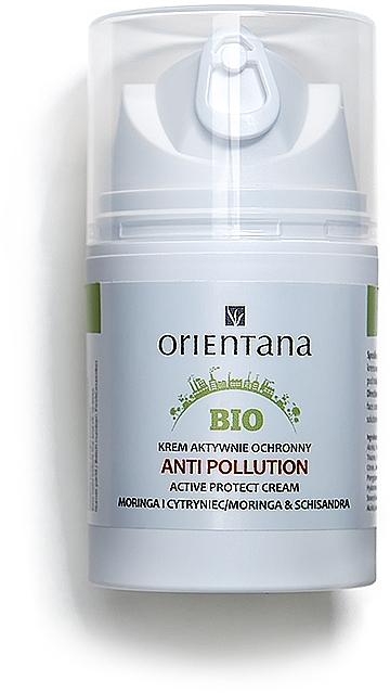 Aktiv schützende Gesichtscreme vor schädlichen und aggresiven Umwelteinwirkungen mit Moringa und Schisandra SPF 15 - Orientana Bio Active Protect Cream Anti Pollution Moringa & Schisandra — Bild N1