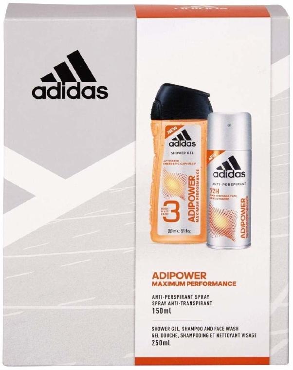 Körperpflegeset Adidas Adipower Women - (Duschgel 250ml + Deospray 150ml)