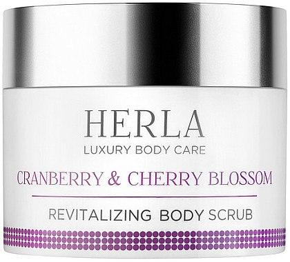 Revitalisierendes Körperpeeling mit Moosbeere und Kirschblüte - Herla Luxury Body Care Cranberry & Cherry Blossom Revitalizing Body Scrub — Bild N1