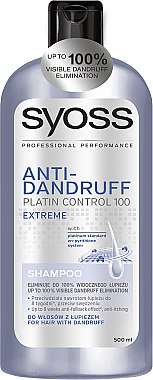 "Anti-Schuppen Shampoo ""Repair & Care"" - Syoss Anti-Dandruff Platin Control 100 Extreme — Bild N1"