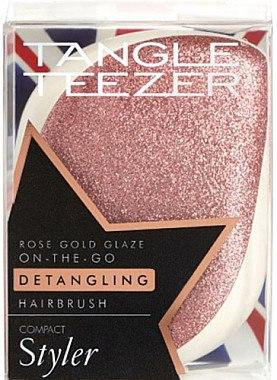 Kompakte Haarbürste - Tangle Teezer Compact Styler Glitter Rose — Bild N2