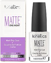 Düfte, Parfümerie und Kosmetik Nageldecklack matt - Kinetics Matte One Night Top Coat