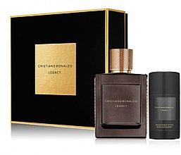 Düfte, Parfümerie und Kosmetik Cristiano Ronaldo Legacy - Duftset (Eau de Toilette 50ml + Deostick 75ml)