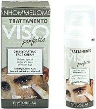 Düfte, Parfümerie und Kosmetik Feuchtigkeitsspendende Gesichtscreme mit Hyaluronsäure, Guarana-Extrakt und Vitamin E - Phytorelax Laboratories Perfect Man 24H Hydrating Face Cream