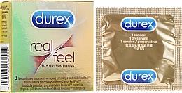 Düfte, Parfümerie und Kosmetik Kondome aus RealFeel-Material 3 St. - Durex Real Feel