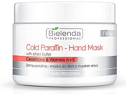 Düfte, Parfümerie und Kosmetik Kalte Paraffinmaske für Hände mit Sheabutter, Ceramiden und Vitaminen - Bielenda Professional Cold Paraffin Hand Mask With Shea Butter (400 g)