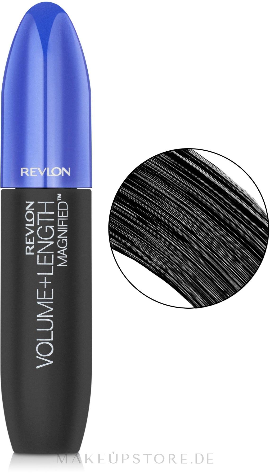 Wimperntusche - Revlon Volume + Length Mascara — Bild 301 - Blackest Black