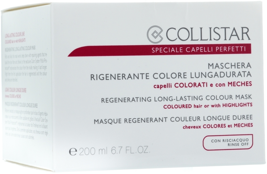 Haarmaske für coloriertes Haar - Collistar Regenerating Long Lasting Colour Mask — Bild N3