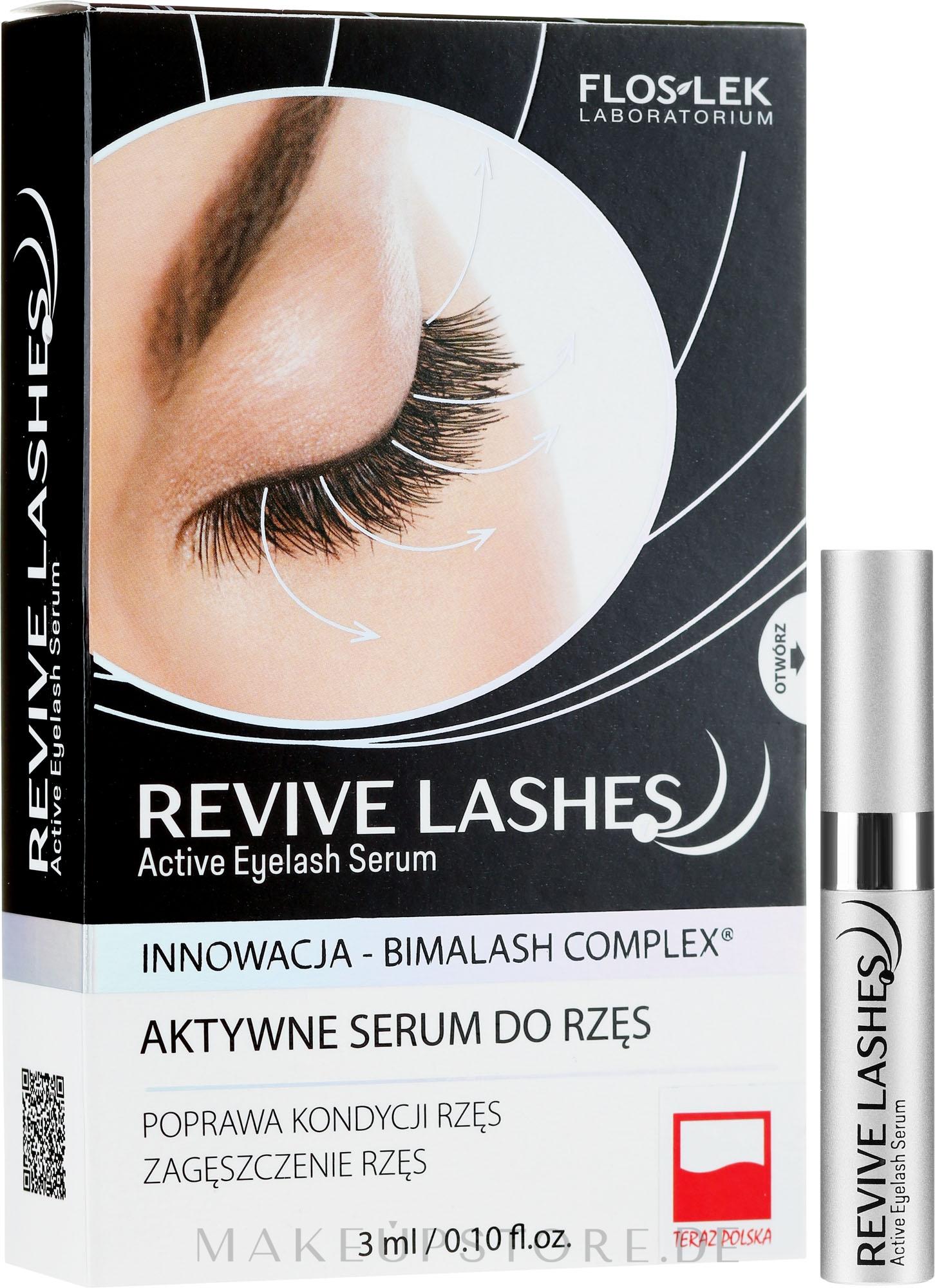 Wimpernserum zum Wachstum - Floslek Revive Lashes Eyelash Enhancing Serum — Bild 3 ml