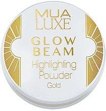 Düfte, Parfümerie und Kosmetik Highlighter-Puder für das Gesicht - MUA Luxe Glow Beam Highlighting Powder