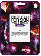 Düfte, Parfümerie und Kosmetik Tuchmaske für das Gesicht mit Feige - Superfood For Skin Facial Sheet Mask Fig Purifying