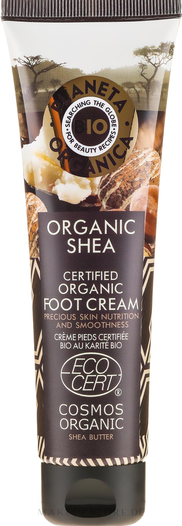 Nährende Fußcreme mit Sheabutter - Planeta Organica Organic Shea Foot Cream — Bild 75 ml