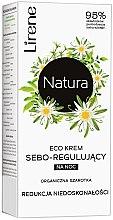 Düfte, Parfümerie und Kosmetik Seboregulierende Nachtcreme zur Reduzierung von Unreinheiten mit Edelweiß - Lirene Natura Eco Cream