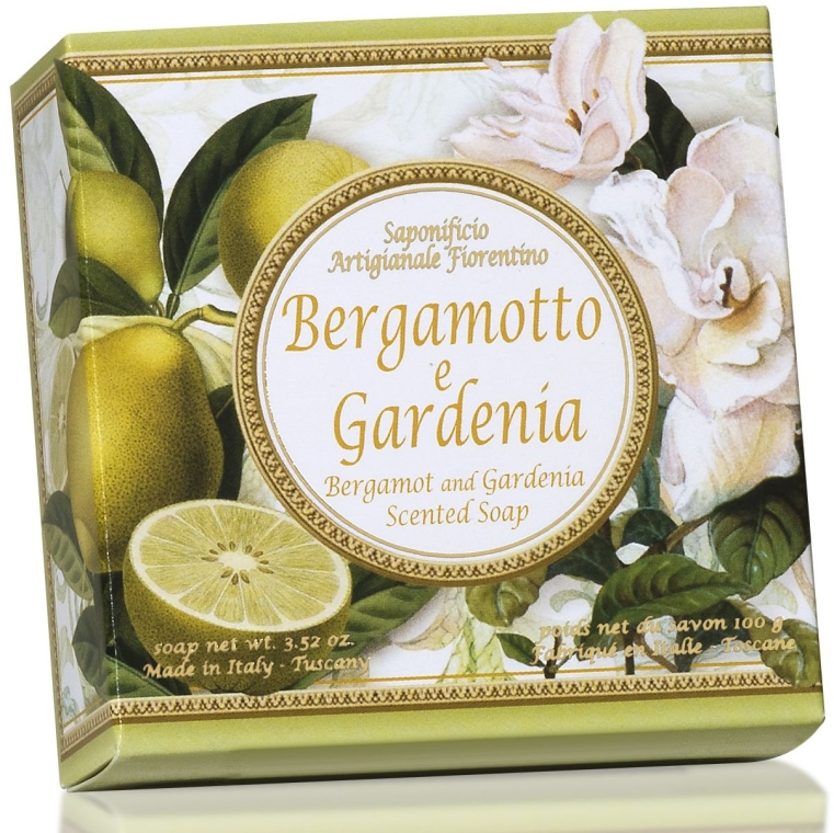 Naturseife Bergamotte und Gardenie - Saponificio Artigianale Fiorentino Capri Bergamot & Gardenia Soap — Bild N1