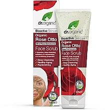 Düfte, Parfümerie und Kosmetik Tiefenreinigendes Gesichtspeeling mit Bio Rosenöl - Dr. Organic Bioactive Skincare Rose Otto Face Scrub