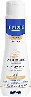 Pflegende Reinigungsmilch für Gesicht und Windelbereich für Kinder und Babys - Mustela Facial Cleansing Milk — Bild N1